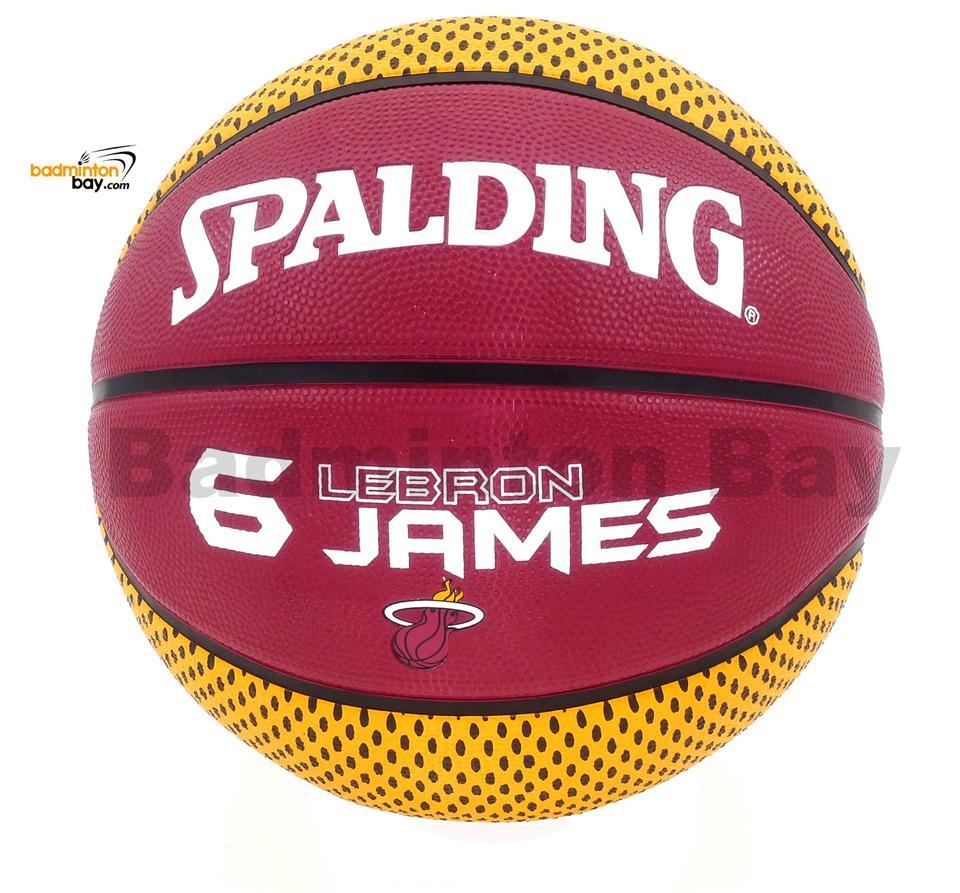 8c3aa3b821056 Spalding NBA Miami Heat 6 Lebron James Maroon Outdoor Basketball Size7. ‹ ›