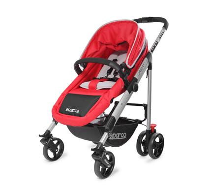 Sparco 2-In-1 Reversible Urban Stroller for Newborn up to 18kg
