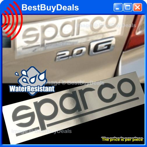 Sparco chrome auto car decal sticker graphic badge emblem trunk side l