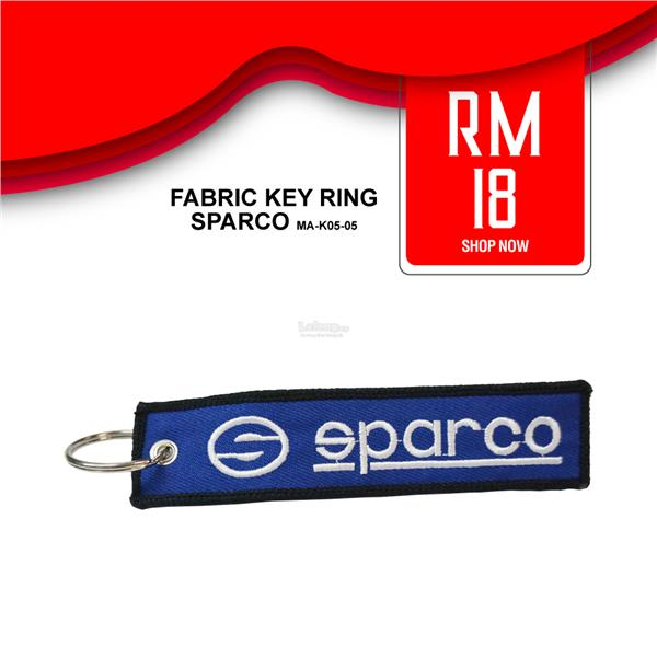 SPARCO Fabric Key Ring Keychain