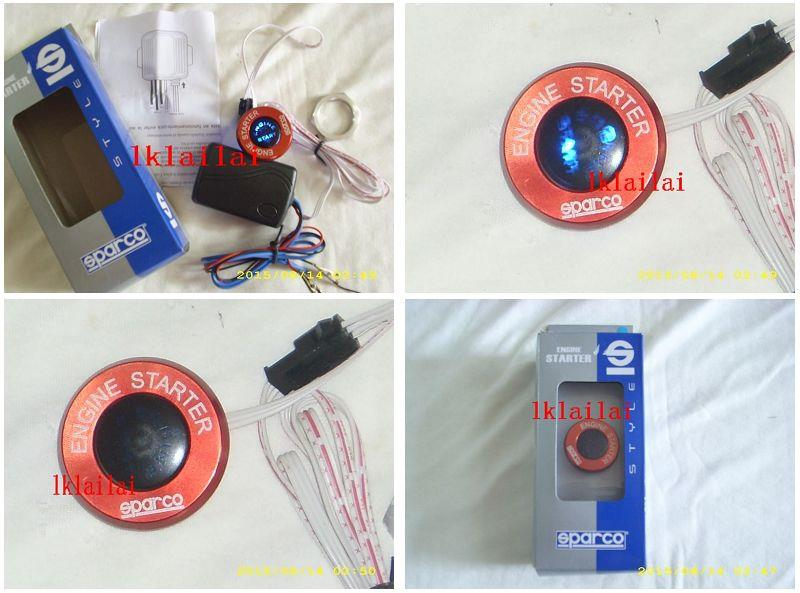 Sparco Push Start Engine Button with LED Light