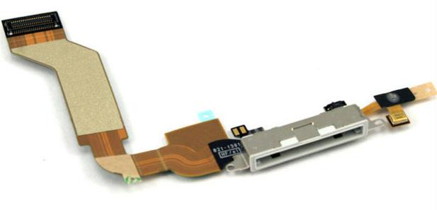 Sparepart iPhone 4S Charging Port Flex Cable with Mic / Ribbon ORI