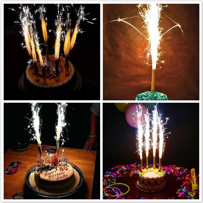 Sparkler Firework Birthday Candles 6 Pieces