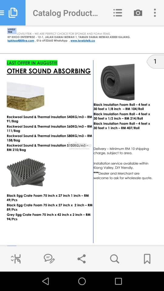 We are specially supply egg profile sound acoustic & install