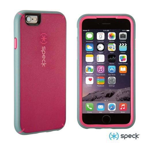 uk availability 22cf9 a8527 Speck MightyShell Case for iPhone 6/6S (Fuchsia Pink/Heritage Gray)