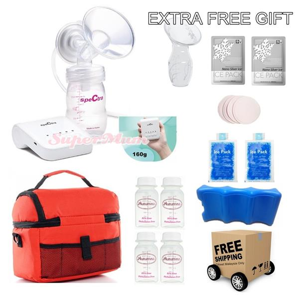 Spectra Q Ultra Compact Single Electric Breast Pump Value Package
