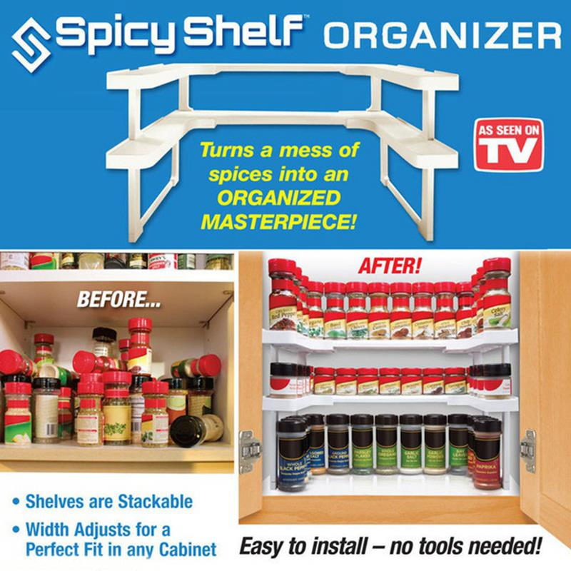 Spicy Shelf kitchen storage tool multifunction make up settle