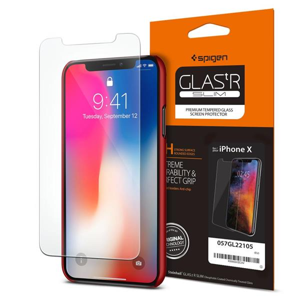 [NEW] SPIGEN Apple IPHONE 7 8 Plus X Tempered Glass Screen Protector