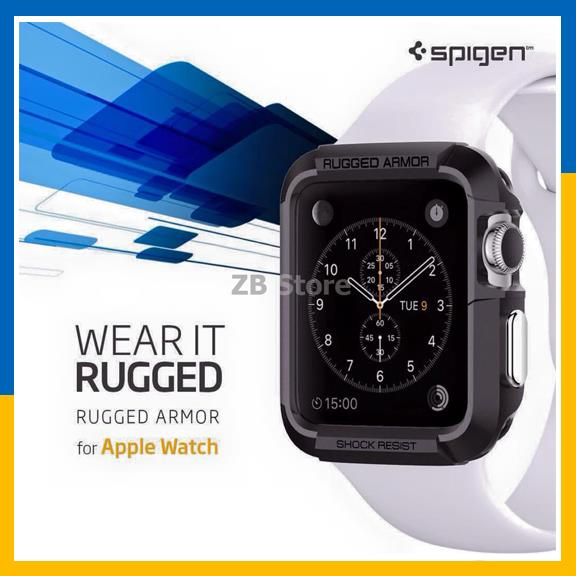 Spigen Apple Watch Case Rugged Armor 38mm 42mm Cover Series 1 2 3