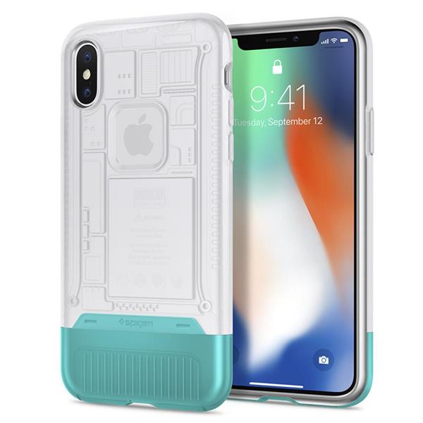 buy popular 834ce 4207b Spigen Classic C1 iMac G3 Inspired Case for Apple iPhone X Snow