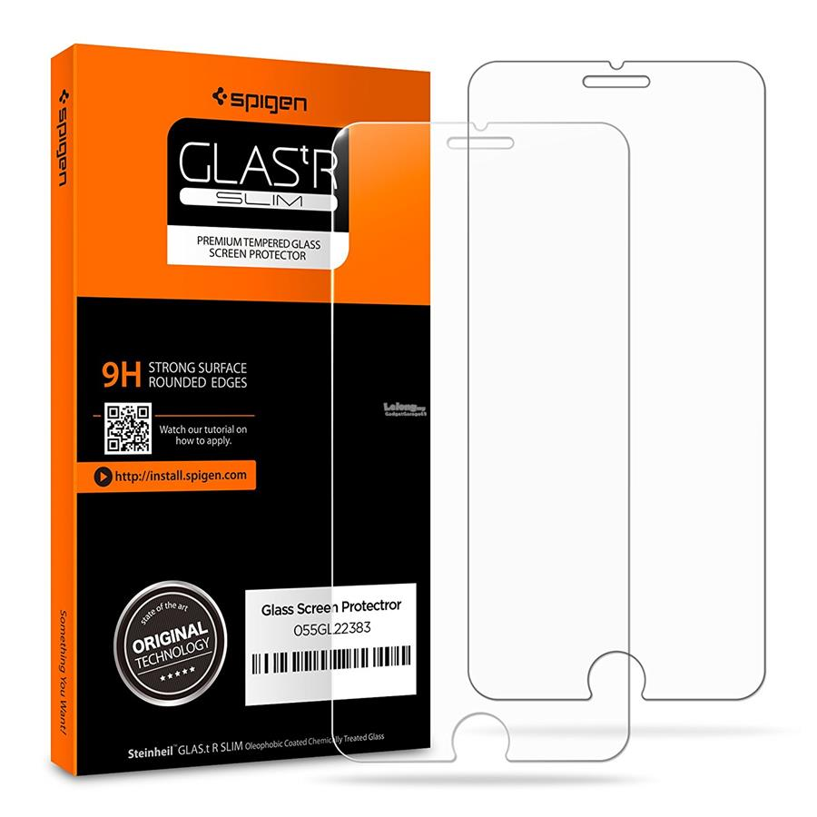 size 40 c680d 7c239 Spigen iPhone X | 7 8 Plus | 7 8 - Tr Slim Tempered Glass (2x pack)