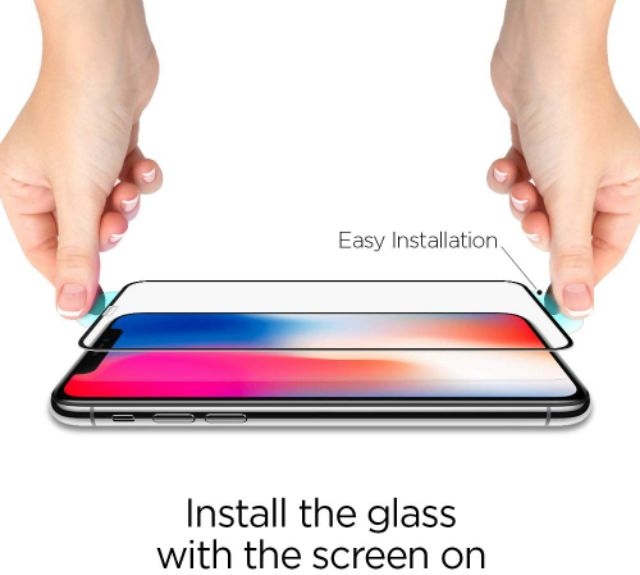 save off 27f23 45eb1 Spigen iPhone XS Max GLAS.tR Full Coverage