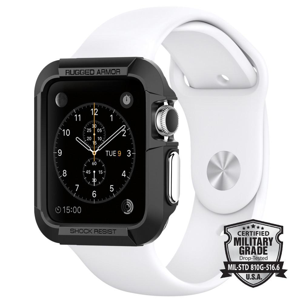 new style 67976 59234 SPIGEN Rugged Armor Case for Apple Watch 3 / Watch 2 / Watch 1 - 42mm