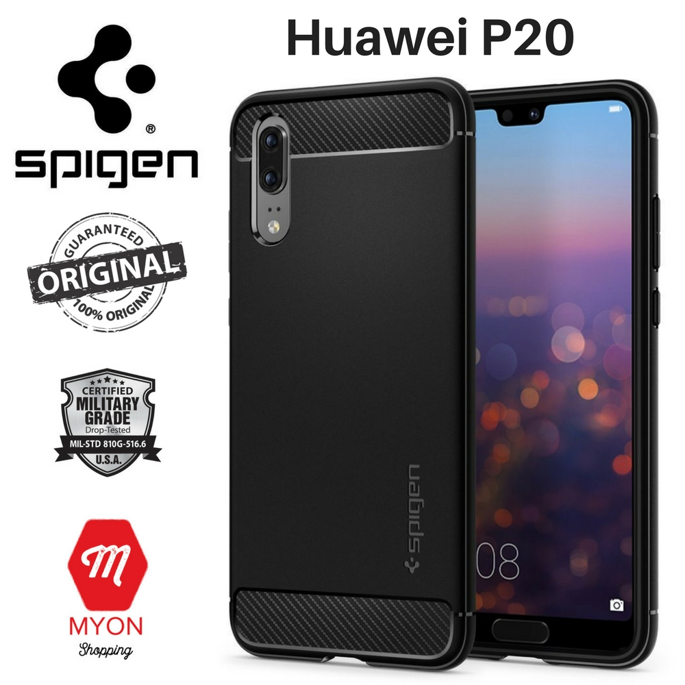 super popular 9fb21 2daaf SPIGEN Rugged Armor Case for Huawei P20 [Shock Absorption]