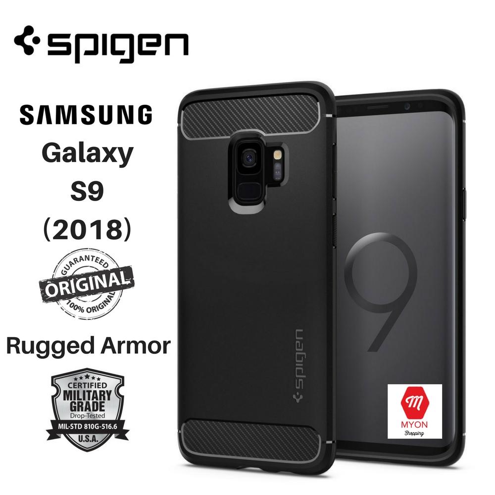 hot sale online 6a3a9 26aad SPIGEN Rugged Armor Case for Samsung Galaxy S9 (2018)