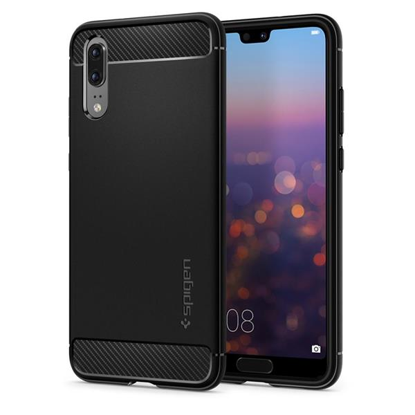Spigen Rugged Armor Protective Case for Huawei P20 (Black)