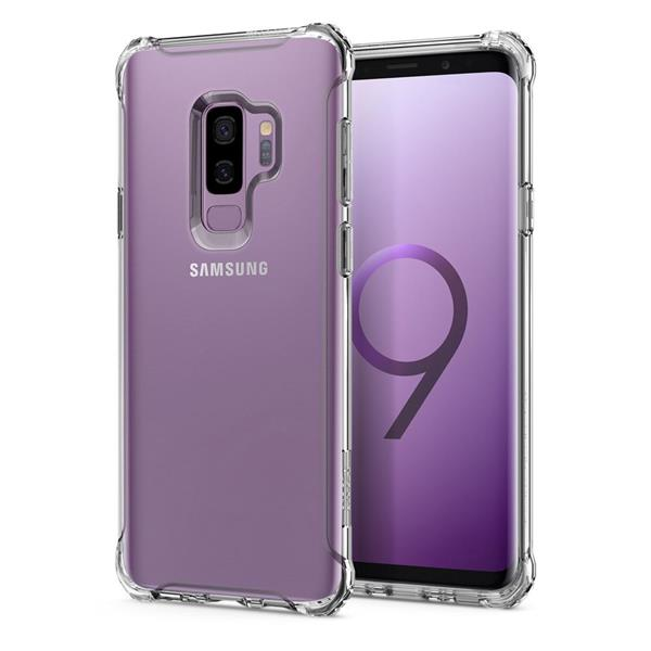Spigen Rugged Crystal Case for Samsung Galaxy S9+ (Crystal Clear)