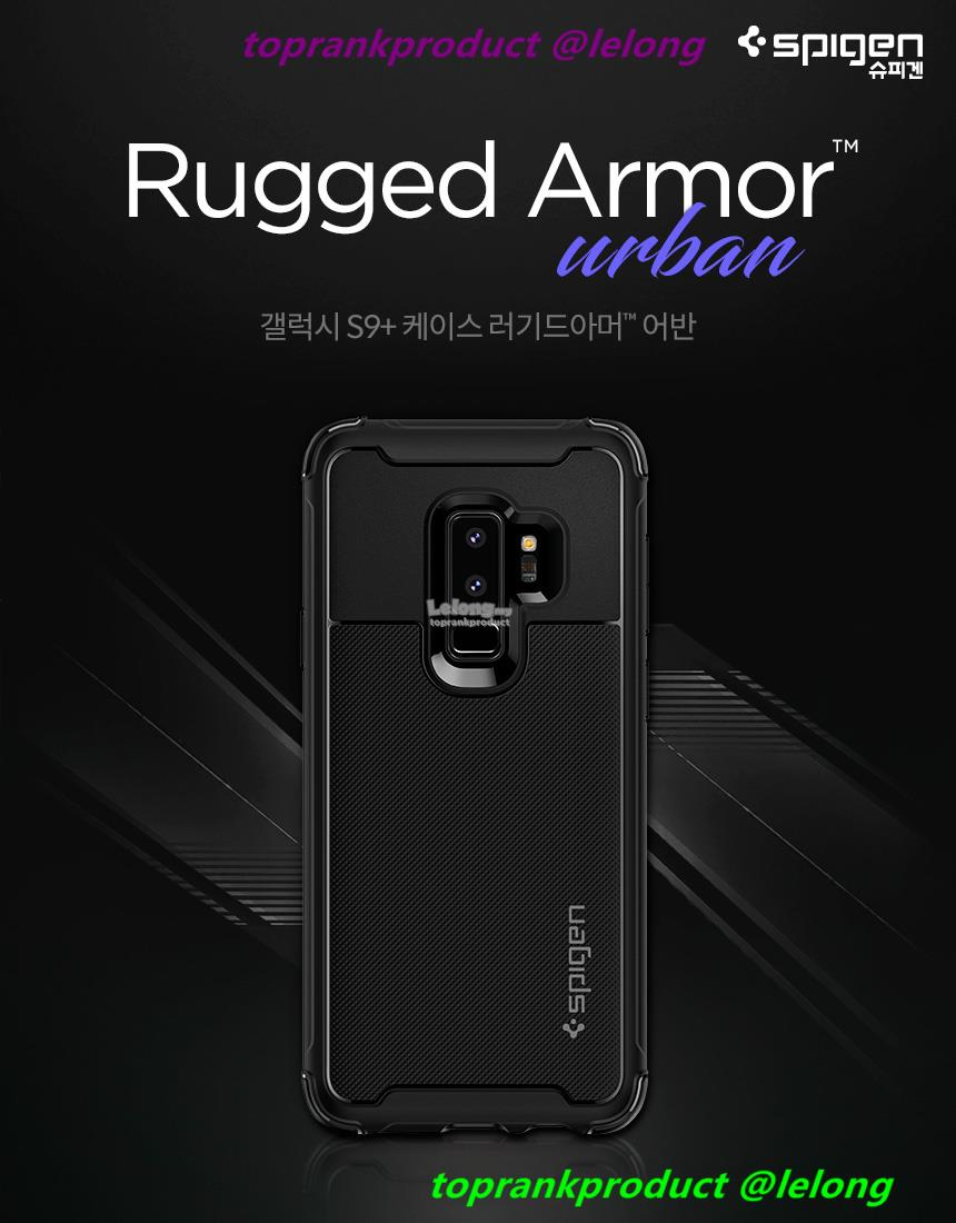 timeless design cfb51 9a0bc Spigen Samsung Galaxy S9 S9+ Plus Rugged Armor Urban Case Cover Casing