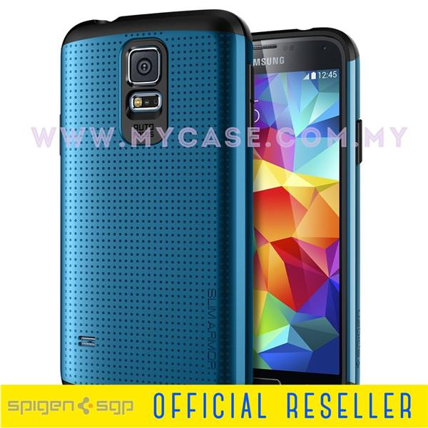 SPIGEN SGP Galaxy S5 Slim Armor Electric Blue Case