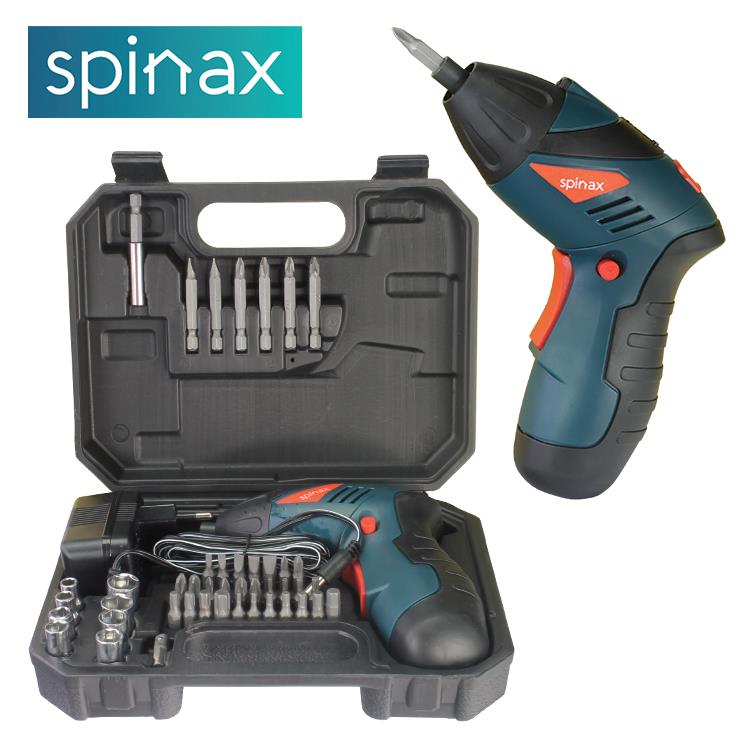 Spinax Electric Screwdriver 45 Pcs Cordless Drill Set Kit Tool PH3110