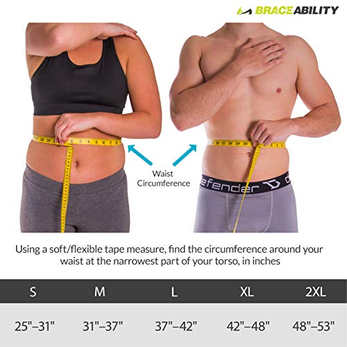 Spine Decompression Back Brace - MAC Plus Rigid Lumbosacral Corset Belt with P