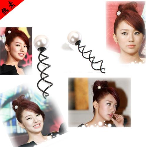 Spiral Magic Hair Clip with Pearl(Small) 13117