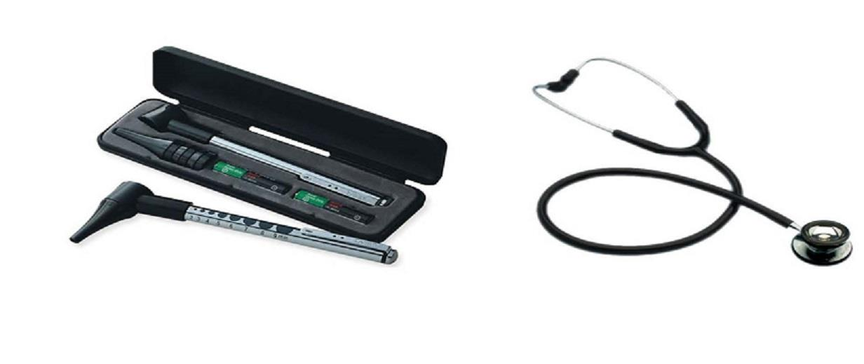 Spirit CK-601P Adult Stethoscope + CK-907a Mini-Otoscope (LED bulb)