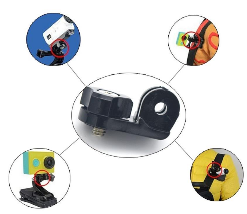 Sport Camera Accessories Tripod Mount Adapter for Gopro;Sony;Xiau Yi