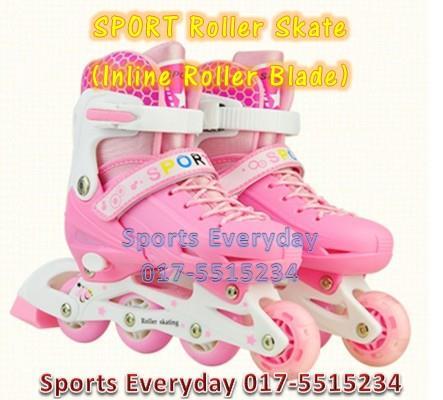 SPORT Roller Skate Pink (Inline Roller Blade Kasut Roda) Sport Mainan 2e060e0956