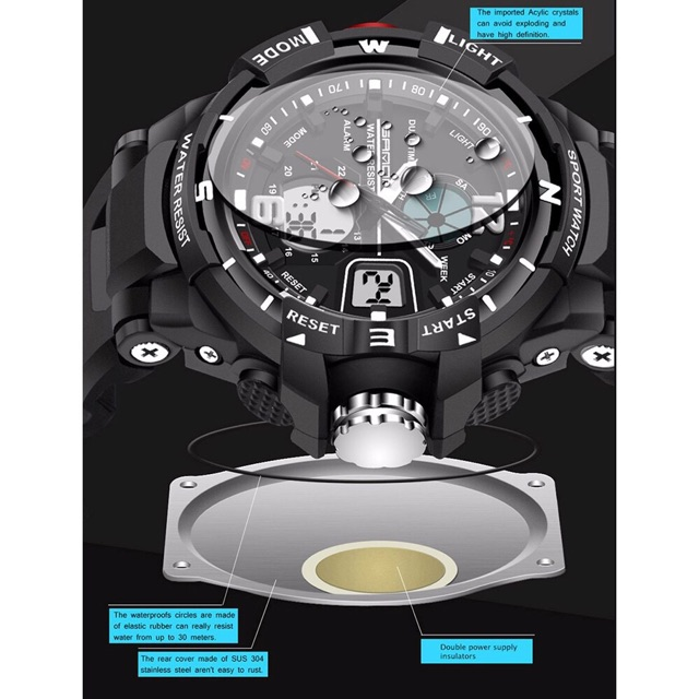 Sport watches men fashion water resi (end 6 5 2021 12 00 AM) 737139ab54