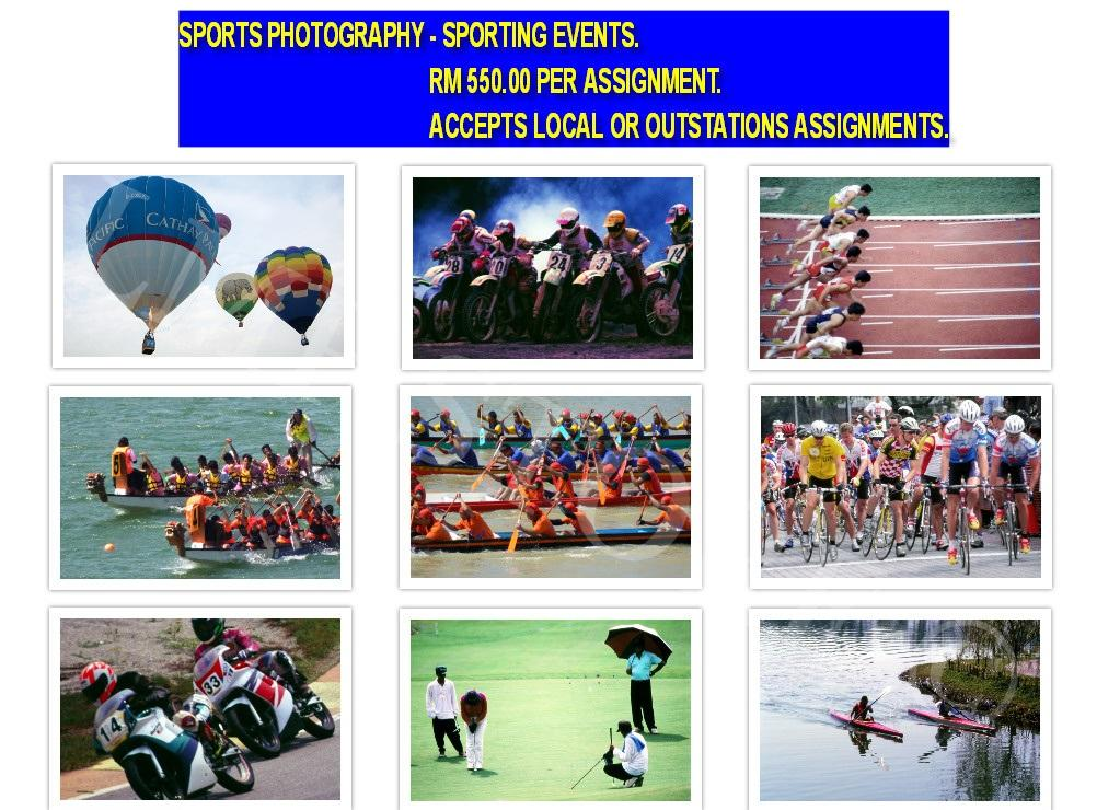 SPORTS PHOTOGRAPHY - SPORTING EVENTS