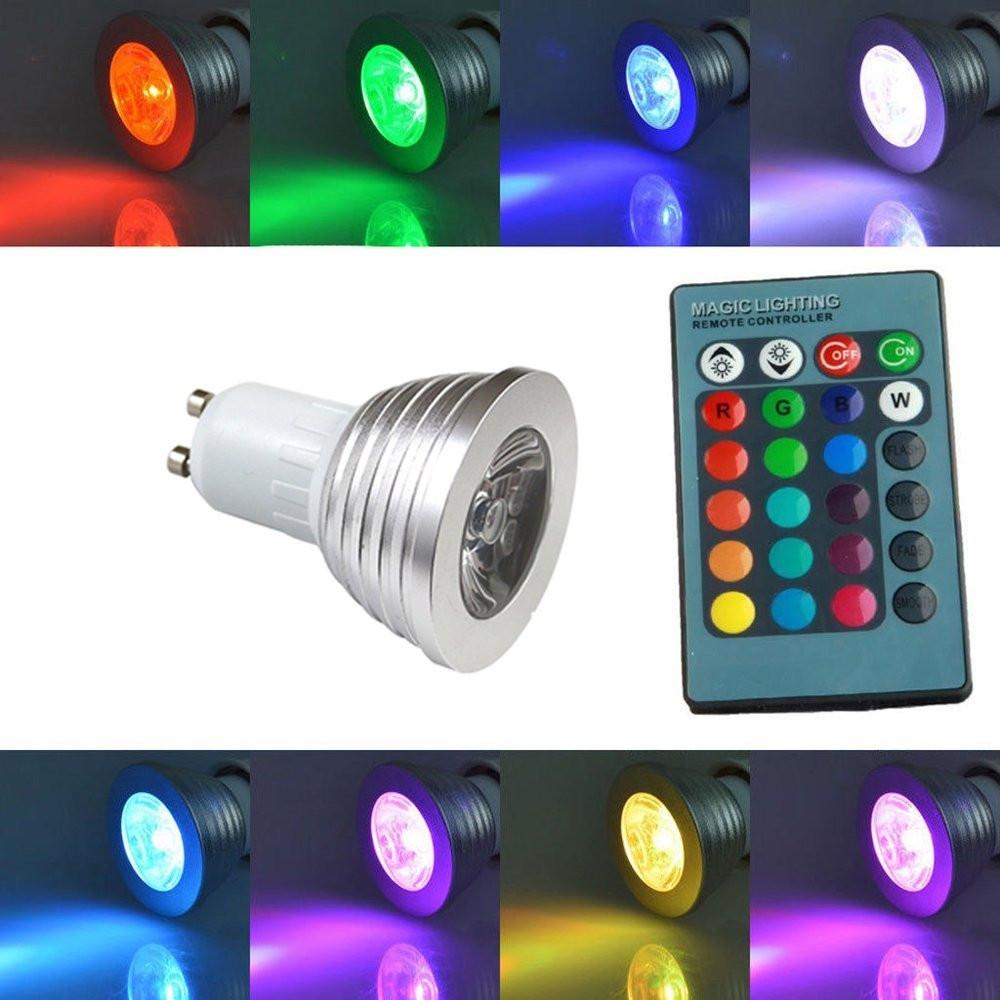 Spotlights - Gu10 Bulb - SUPLI Gu10 RGB Led Bulb 16 Color Led Spotligh.