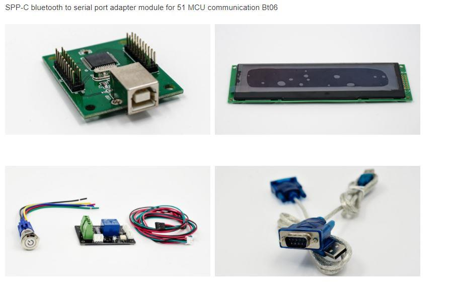 SPP-C bluetooth to serial port adapter module for 51 MCU communication