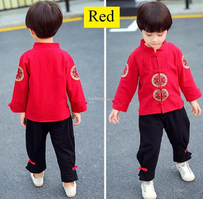 Spring 2019JN – Classical Kungfu Cheongsam for boys