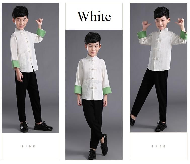 Spring 2019JN – Tang Long Sleeve Cheongsam for boys