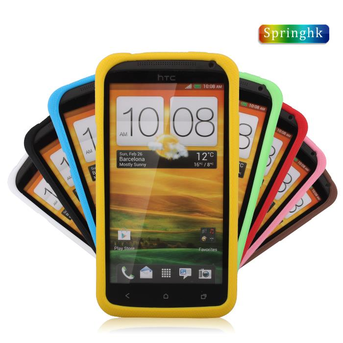 Springhk HTC One X S720e G23 ShakeProof Silicone Case Cover