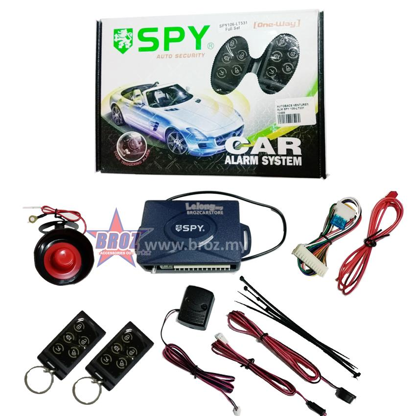 One Way Auto >> Spy One Way Auto Security Car Alarm System Spy106 Lt531 Full Set