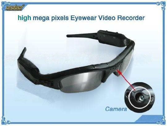 SPY Sunglasses Hidden Camera Audio/Video Recorder (DVR-12A).!