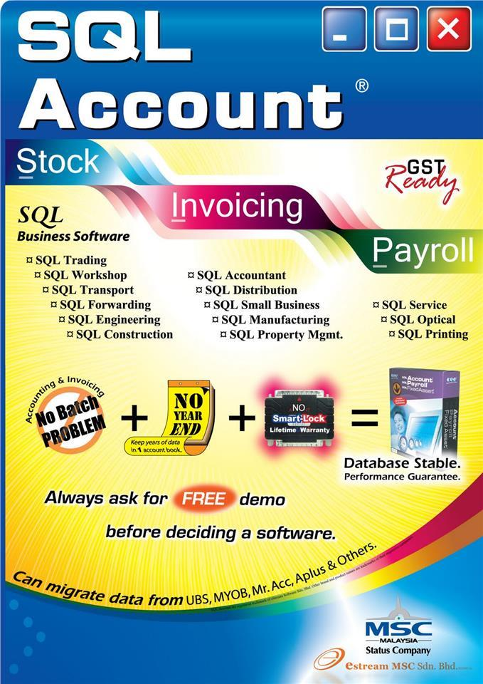 SQL Accouting Software and GST Practical & Application