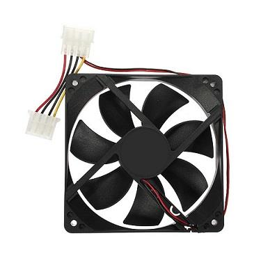 Square 9cm x 9cm Height 25mm Computer Cooling Fan DC 12V