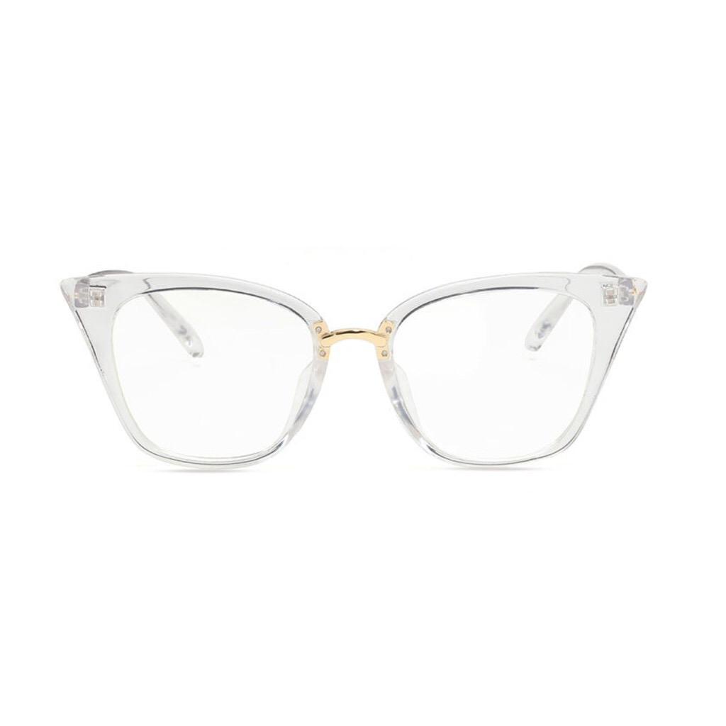 4318a74f1 Square Shaped Cat Eye Black Frame / Clear Frame Transparent Glasses