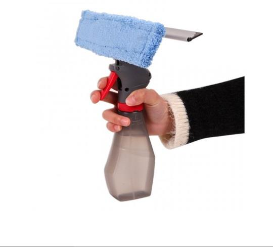 Squeegee Microfiber Window Glass Cleaner Spray Pump Mop Wiper