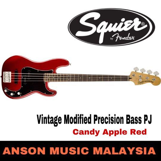 Squier Vintage Modified Precision Bass PJ, Candy Apple Red