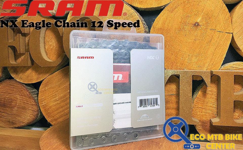 SRAM Chain PC NX Eagle Solid Pin 126 Links Powerlock Flowlink 12speed