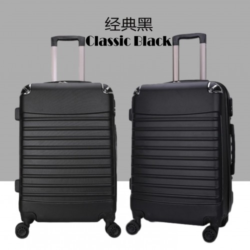 My Srs Abs Plain Travel Luggage - 7 Colours - Steel A - [20INCH,BLACK]