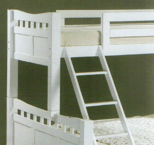 SS1578BB Single Over Queen Size Wooden Bunk Bed