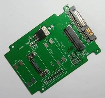 SSD Mini PCIe mSATA to SATA3 2.5in 7+15p Converter