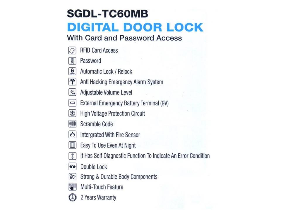 St Guchi Digital Door Lock Sgdl Tc60 End 7 16 2019 9 15 Pm
