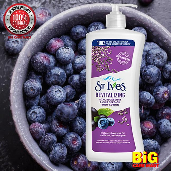 St Ives Revitalizing Acai Blueberry Chia Seed Body Lotion 621ml