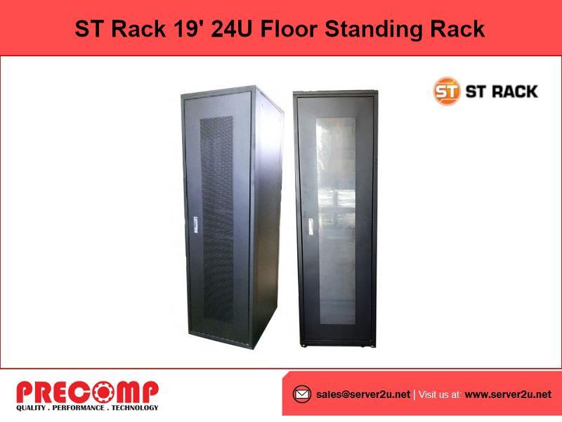 ST Rack 19' 24U Floor Standing Rack (Perforated/Perspex) (ST-FS2466)